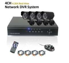 4CH H.264 Real-time Recording Network DVR System 600tvl Weatherproof IR Day&Night Camera