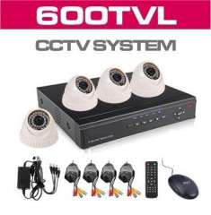 4CH HD CCTV Surveillance System Full D1 Security DVR 600TVL Indoor Night Vision Cameras