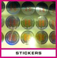 Promotional custom 3d stickers, computer logo stickers, custom logo sticker