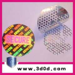3d holographic self adhesive Anti-counterfeit labels