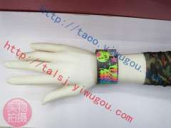 I LOVE DISCO / Saturday night / ROLLER DISCO theme printed leather bracelet