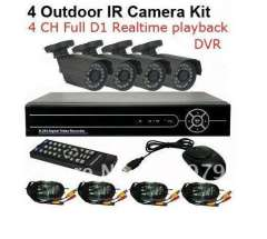 CCTV 4CH H.264 Full D1 realtime record Standalone Network DVR CMOS 6mm lens Outdoor IR Camera VIdeo System Kit