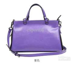 Wholesale - Hot-selling Women's Cow leather multifuction handbags pure colors New shoulder with Rivet & Zip
