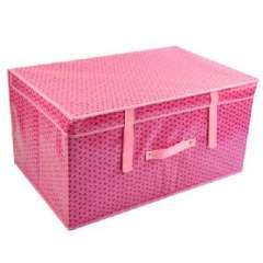 Pink clover thicker coated waterproof large storage box / storage box (60 * 40 * 30CM)