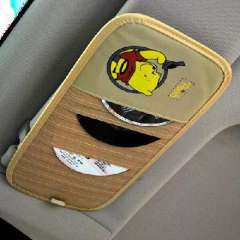 Thicker section 12 cartoon car sun visor clip CD / CD pocket