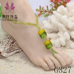 beach jewelry, crystal foot jewelry, 2013 anklet, barefoot sandals