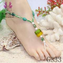 2013 popular beach jewelry in summer, foot jewelry, barefoot sandals