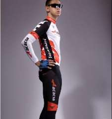Cycling clothes suit long-sleeved suit mountain biking clothes Dongkuan men silicone cushion