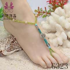 2013 fashion anklet, popular barefoot sandals, party barefoot, alloy anklet