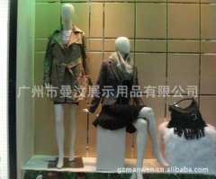 FRP fiberglass clothing store window display combination | highlights PU female body porcelain | wedding mannequins