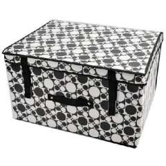 Black and white dot thick coated waterproof storage box / storage box (50 * 40 * 30CM)