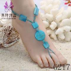 trendy shoe charming anklet, beach anklet jewelry, beach barefoot jewelry