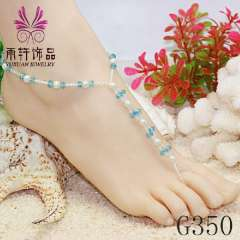 beads anklet jewelry, wedding foot jewelry, barefoot jewelry, anklets for women