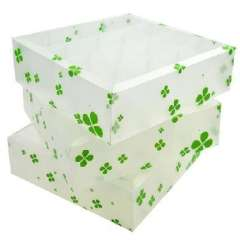 Multifunction environmental PP without lid storage box / finishing three-piece box - Clover