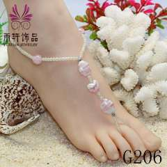 fashion stone anklet wholesale jewelry, sexy barefoot sandal, beach anklet jewelry
