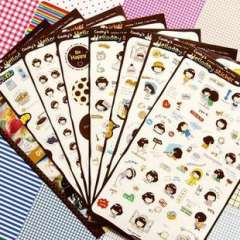 Korea stationery biscuits girl diy photo album decoration stickers set