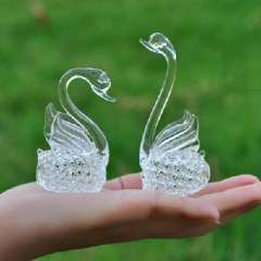 Love Swan crystal glass crafts / Jushi