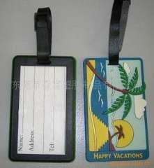PVC luggage tag tag | cards plastic luggage tag