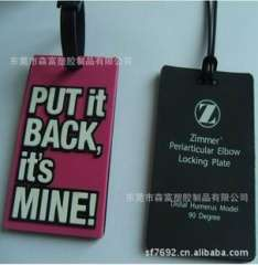 Exquisite fashion luggage tag | pvc soft luggage tag | your baggage vouchers
