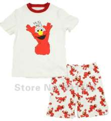 children summer clothes #L-026 \ kids short sleeve cotton pajamas \ free shipping