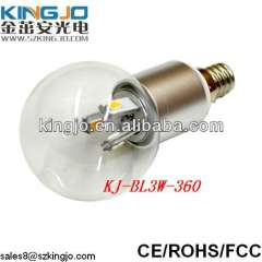 3W Led Candle Light new ce qualified 320lm led candle 4w 80lm\w 2700k