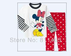 Free shipping 6pcs\lot \ girl newest long sleeve clothing set #CA-019 \ children's wear \ wholesale & retail