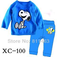 boy fashion long sleeve 100% cotton pajamas #XC-100 \ wholesale & retail \ free shipping