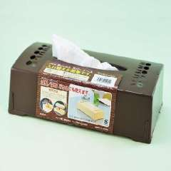 Japan imported chocolate color quality tissue storage box ( 011600 )