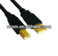 Hot Saling Gold Plated Black AM\BM 2.0V USB Cable