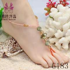 fashion crystal barefoot wedding jewelry, anklet jewelry, sexy barefoot anklet