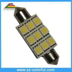 Festoon 9pcs 16-18lm 5050smd led lights in car