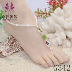 glass beads anklet, trendy barefoot jewelry, anklet 2013, fashion beach anklet jewelry