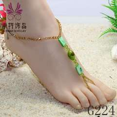beautiful beads bracelet anklets, fashion shell anklets, sexy baefoot jewelry 2013