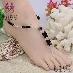 New design crystal anklet jewelry, beads jewelry, fashion, sexy barefoot anklet