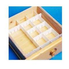 Four loaded 9CM high drawer separator