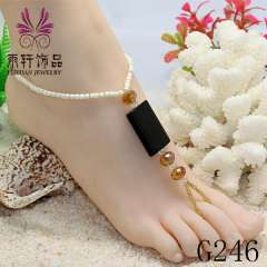 fashion style new beads crystal anklet, foot jewelry sandals, sexy barefoot sandals