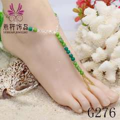 crystal stone anklet jewelry, bridal foot jewelry beach jewelry, barefoot sandals
