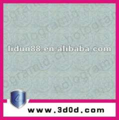 2012 Guang zhou custom high security paper watermark