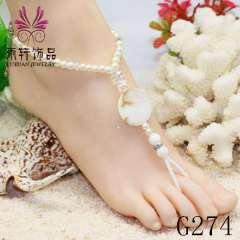 beautiful anklet jewelry, nude sandal foot jewelry, beach barefoot anklet jewelry