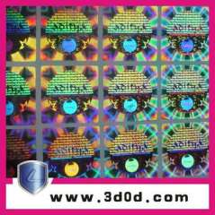 High-tech 3D hologram labels\stickers, security c