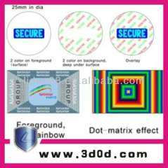 3D\2D 2layers hologram masters customized