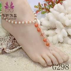 crytal nude sandals jewelry, pearl barefoot jewelry, foot jewelry, cat eye's anklet jewelry