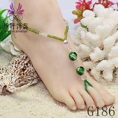 2013 newest jewelry, clear crystal barefoot jewelry, sexy barefoot anklet jewelry