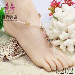 2013 handmade fashion anklet, crystal anklet jewelry, sexy beach barefoot jewerly