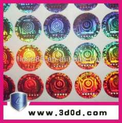 cheap strong adhesive sticker hologram stickers