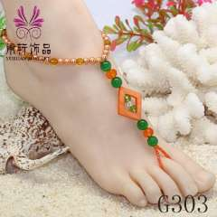 pearl barefoot jewelry, crystal anklet jewelry 2013, party barefoot, shell anklet jewelry