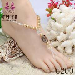2013 fashion anklets, pearl charm anklets, crystal anklet jewelry