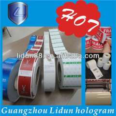 Printing clear plastic sticker, customized self adhesive plastic sticker