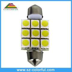 replace HID 9pcs 5050smd Festoon led car lights