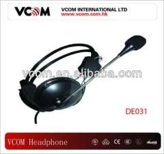 2013 VCOM New style stereo headphone with microphone
